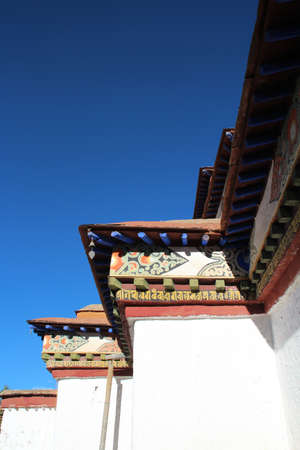 Roof decoration in Palcho Monastery, Gyantse, Tibet