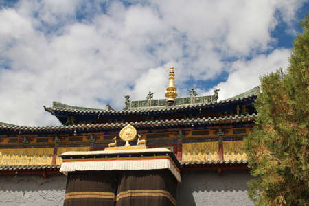 Roof decoration of Shalu Monastery near Shigatse, Tibet