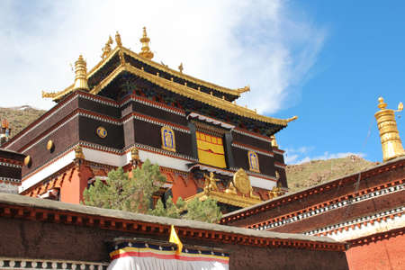 Sisum Namgyel, Tomb of the 10th Panchen Lama, who died in 1989 in the Tashilhunpo Monastery, Shigatse, Tibet