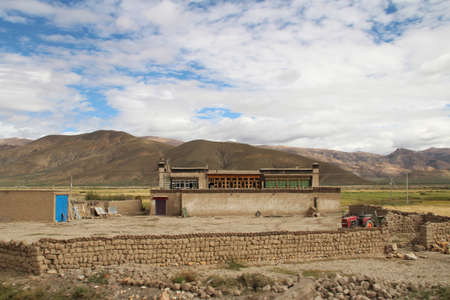 The Tibetan houses looking like a castle