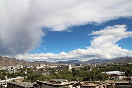 View of Shigatse from Tashilhunpo Monastery, Tibet