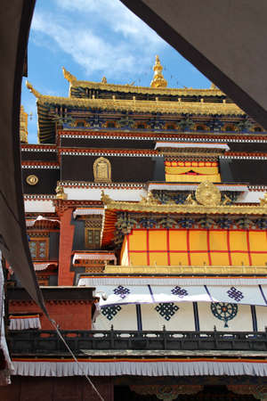 Sisum Namgyel, Tomb of the 10th Panchen Lama, who died in 1989 in the Tashilhunpo Monastery, Shigatse, Tibet photo
