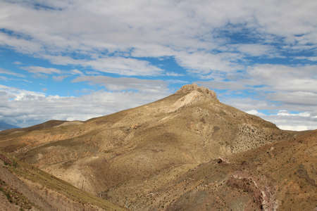 View of the mountains with dramatic sky in Tibet, China. Stock Photo