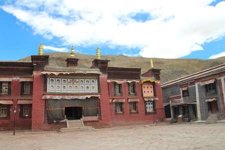 Sakya Monastery was founded in 1073, located in Sakya, Shigatse, Tibet.