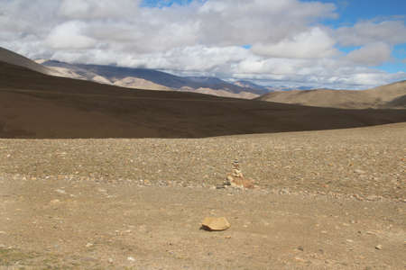 mani: View of the mountain and Mani Stones in Tibet, China