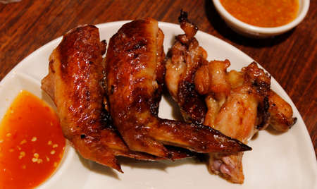 chilli sauce: Honey BBQ chicken wings with the chilli sauce