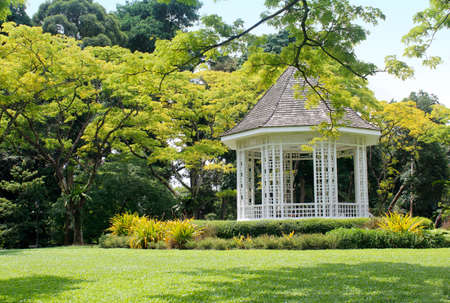 bandstand: Bandstand in the Singapore Botanic Garden Stock Photo