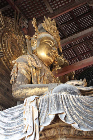 Kokuzo Bosatsu as the bodhisattva of Buddha at Great Buddha Hall (Daibutsuden) of Tōdai-ji, Nara
