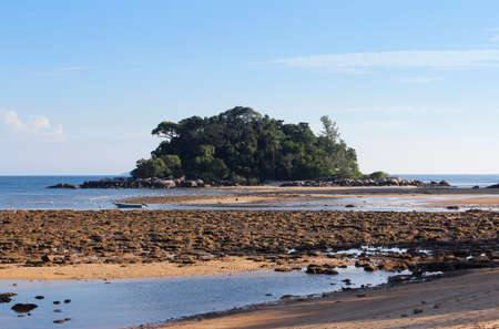 Seaside view of low tide at Tioman Island