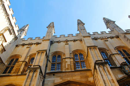 Exterior of the Bodleian Library building in a sunny day, Oxford University, London