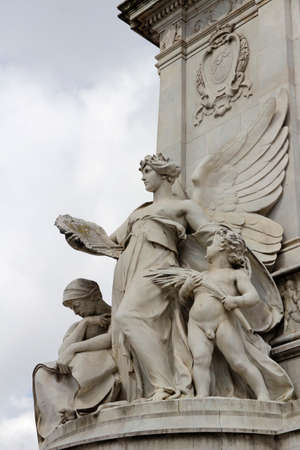 Statue Angels of the Truth at Victoria Memorial in front of Buckingham Palace