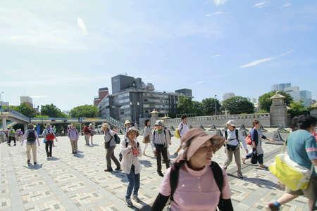 harajuku: Elderly tourist visit harajuku Stock Photo