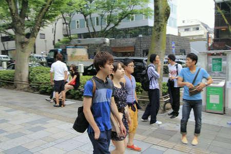 omotesando: Teenagers walked pass omotesando hills tokyo