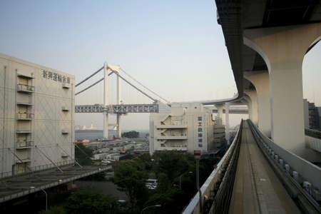 monorail: Monorail to odaiba Stock Photo