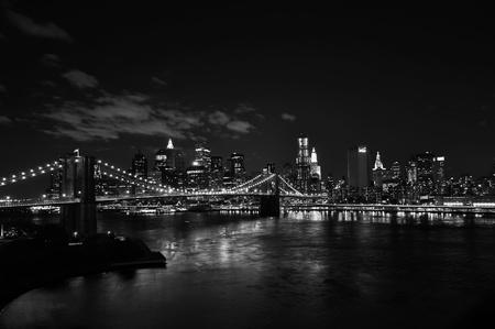 Brooklyn bridge at night photo