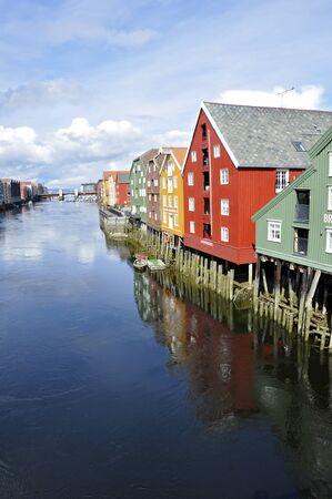 Bryggen - Trondheim - Norway Editorial
