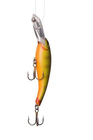 rapala: Fishing lure -floating wobbler on white background