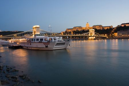 Night shoot from Budapest with bridge photo