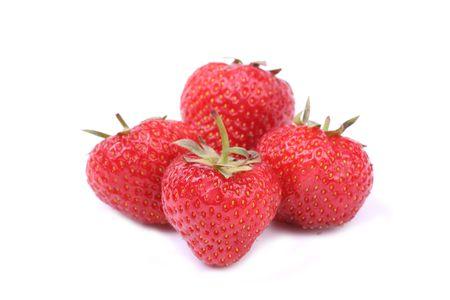 isolated strawberries photo