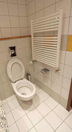toilette in hotel room photo
