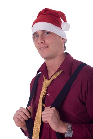 businessman in santa hat photo
