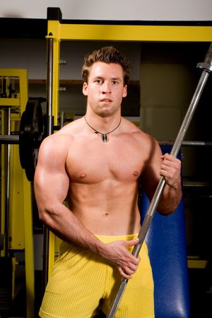 young Bodybuilder training photo