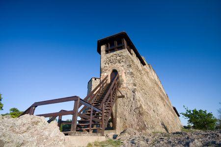 visegrad: fortess in visegrad Stock Photo