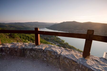 Landscape with Danube river Stock Photo - 4867731