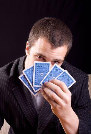 businessman playing poker Stock Photo - 4980762