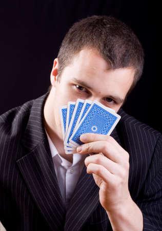 businessman playing poker Stock Photo - 4980760