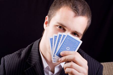 businessman playing poker Stock Photo - 4980761
