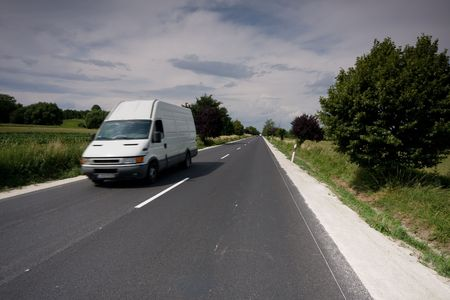 fast moving van Stock Photo - 5029519