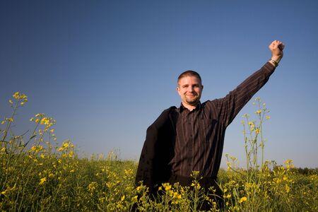 succesful: succesful businessman Stock Photo