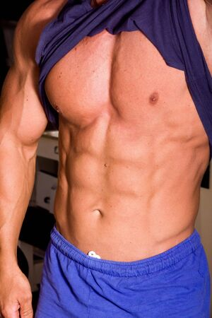 muscular abs photo