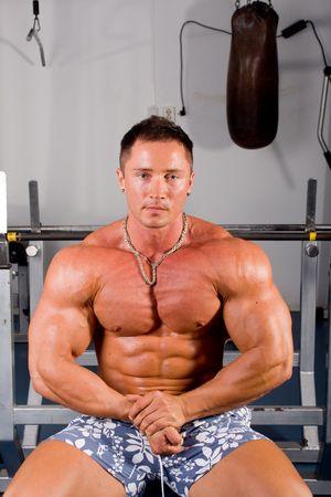 human body substance: bodybuilder