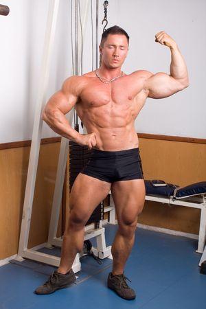 human body substance: bodybuilder   Stock Photo