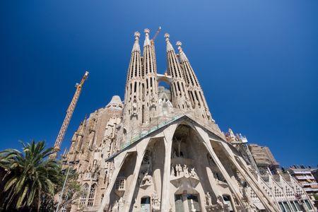 Sagrada Familia � Barcelone en Espagne. (A. Gaudy)