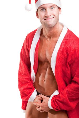 sexy muscular santa claus   photo