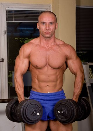 Bodybuilder training Stock Photo - 6284406