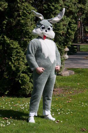 full body portrait of easter bunny Standard-Bild