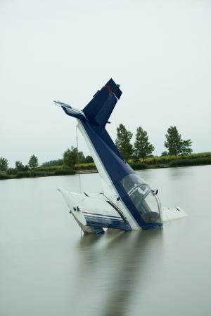 Flugzeug Unfall in einem See