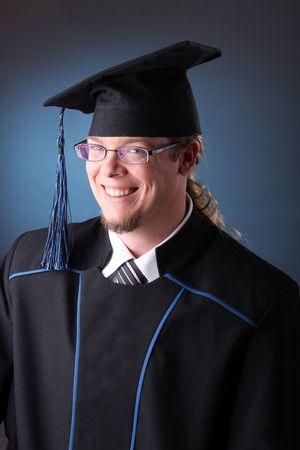 junger Mann nach seinem Abschluss  Standard-Bild