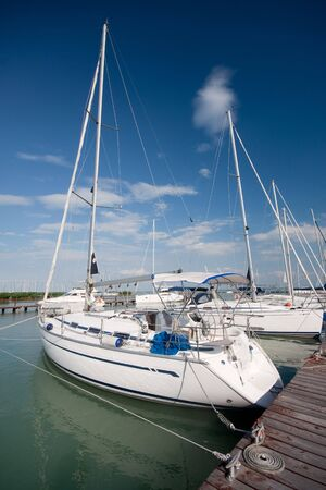 chris: yachts in a lake Stock Photo