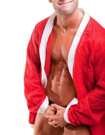 sexy muscular santa claus Stock Photo - 7913686