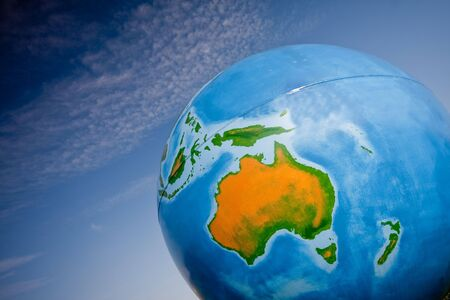 global planet with blue sky Stock Photo - 7984804