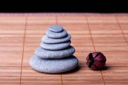 Potpourri arranged zen style with peebles Stock Photo - 8613417