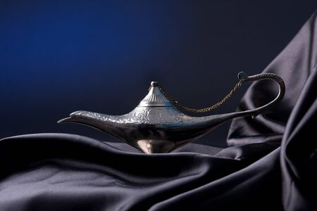 Old Oil Lamp From The Middle East photo