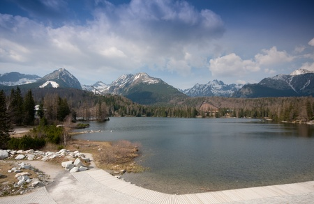 Strbske pleso lake, Hight Tatras, Slovakia photo