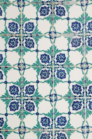 Beautiful Tunisian glazed tile background photo