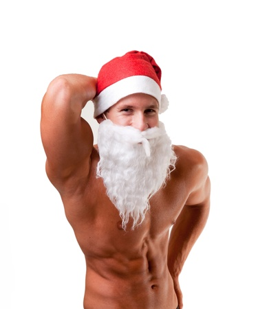 bodybuilder santa claus Stock Photo - 10591499